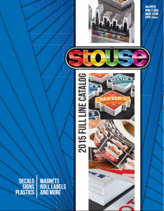 Stouse Full Line 2015