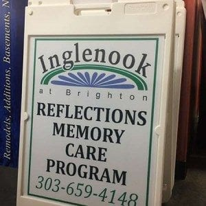A-Frame Signage for Inglenook Retirement Center