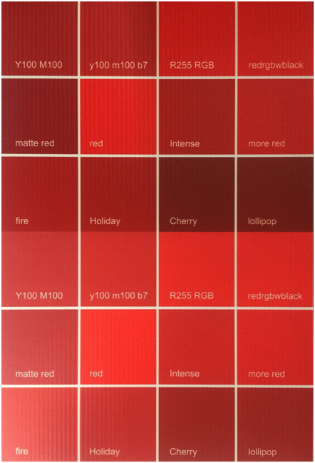 red color swatch options